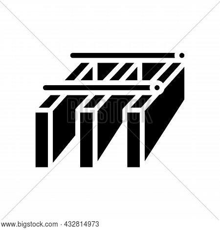 Bar Grating Metal Glyph Icon Vector. Bar Grating Metal Sign. Isolated Contour Symbol Black Illustrat