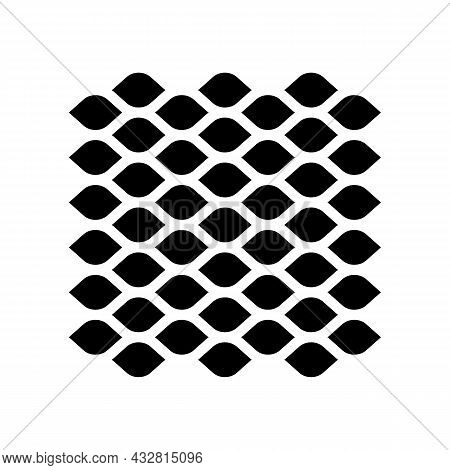 Expanded Sheet Metal Glyph Icon Vector. Expanded Sheet Metal Sign. Isolated Contour Symbol Black Ill