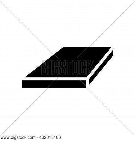 Flat Bar Metal Profile Glyph Icon Vector. Flat Bar Metal Profile Sign. Isolated Contour Symbol Black
