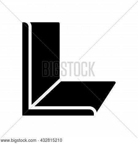Angle Metal Profile Glyph Icon Vector. Angle Metal Profile Sign. Isolated Contour Symbol Black Illus