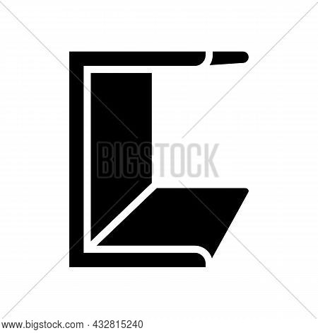 Channel Metal Profile Glyph Icon Vector. Channel Metal Profile Sign. Isolated Contour Symbol Black I