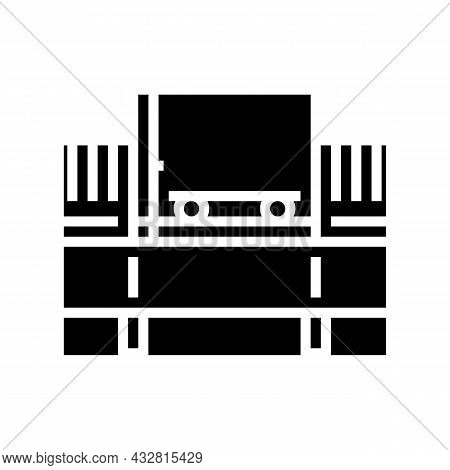 Bulk Handling System Glyph Icon Vector. Bulk Handling System Sign. Isolated Contour Symbol Black Ill