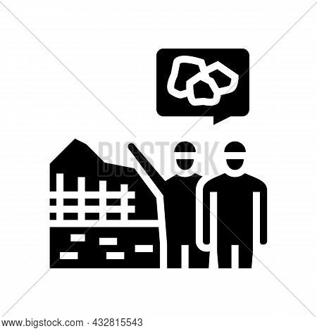 Construction Supervision And Monitoring Glyph Icon Vector. Construction Supervision And Monitoring S