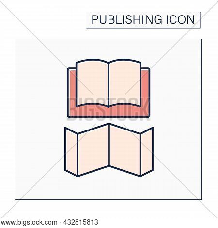Jacket Color Icon. Dust Jacket. Detachable Outer Cover.publishing Concept. Isolated Vector Illustrat