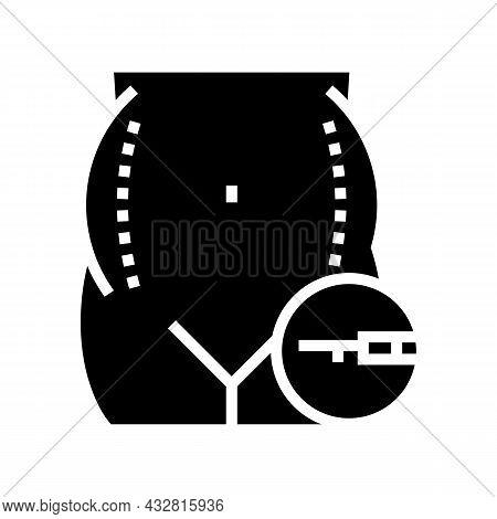Liposuction Surgery Glyph Icon Vector. Liposuction Surgery Sign. Isolated Contour Symbol Black Illus