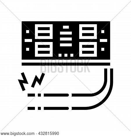 Electrosurgery Hospital Electronic Equipment Glyph Icon Vector. Electrosurgery Hospital Electronic E