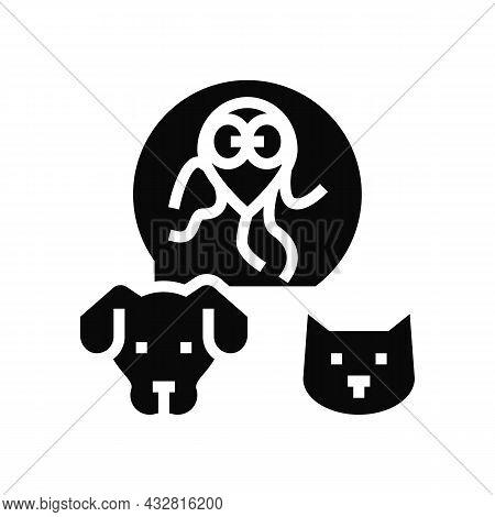 Giardiasis Pet Disease Glyph Icon Vector. Giardiasis Pet Disease Sign. Isolated Contour Symbol Black