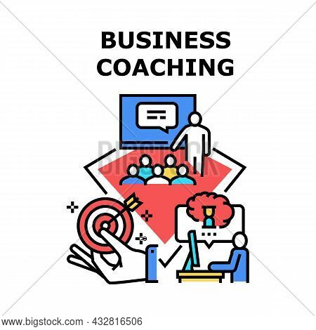 Business Coaching Event Vector Icon Concept. Business Coaching Event For Studying And Motivate Emplo