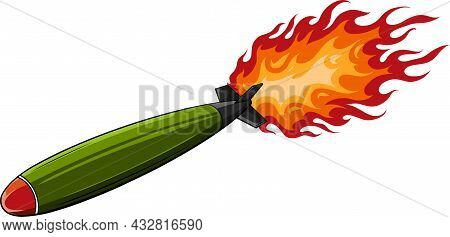 Ballistic Missile Vector Icon.cartoon Vector Icon Isolated On White Background Ballistic Missile.