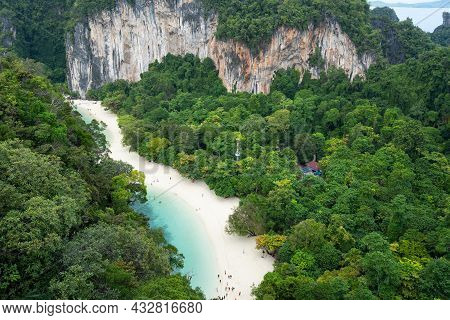 Koh Hong View Point New Landmark To See Nature Sea A Stunning Scene Of Andaman Sea Amazing High Angl