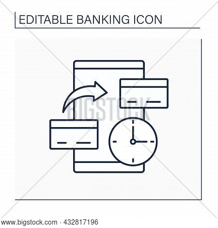 Balance Transfer Line Icon. Move Money From One Credit Card To Another. Limited Time. Banking Concep