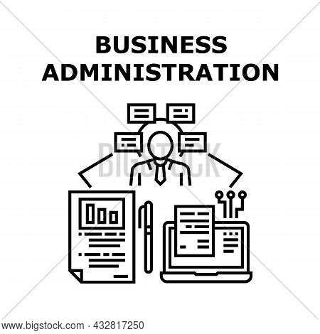 Business Administration Vector Icon Concept. Business Administration And Management, Businessman Thi