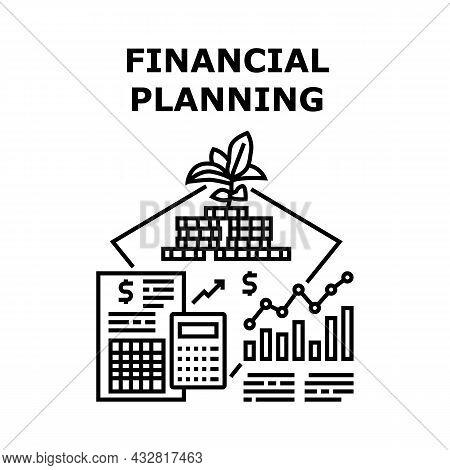 Financial Planning Vector Icon Concept. Investor And Company Financial Planning And Strategy For Inc