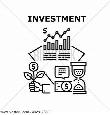 Investment Money Vector Icon Concept. Investment Money Businessman Investor, Economy Finance Growth