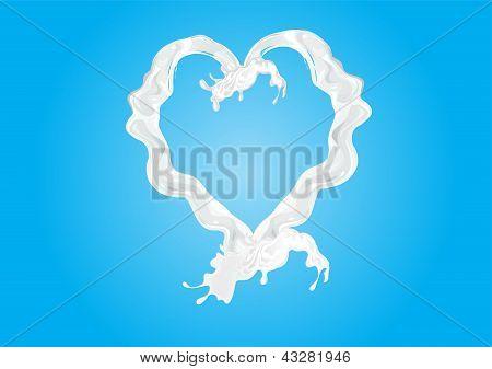 milk love heart