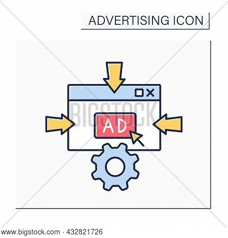 Macromarketing Color Icon. Influence Marketing Policies, Strategies, And Objectives On Economy And S
