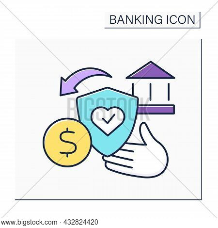 Credit Life Insurance Color Icon. Life Insurance Policy. Pay Off Loan In Case Of An Untimely Death.b