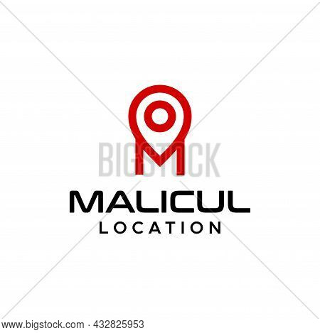 Simple, Modern And Sophisticated Logo About Letter M And Location Icon. Eps 10, Vector.