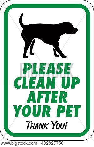 Please Clean Up After Your Pet Sign | Thank You For Picking Up After Your Dog | Neighborhood Signage