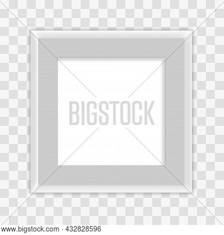 White Blank Picture Frame. Graphic Element For Websbite. White Square, Unusual Images. Abstract Pict