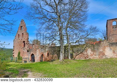 Ruin Of Historic Limburg Abbey In Palatinate Forest In Germany