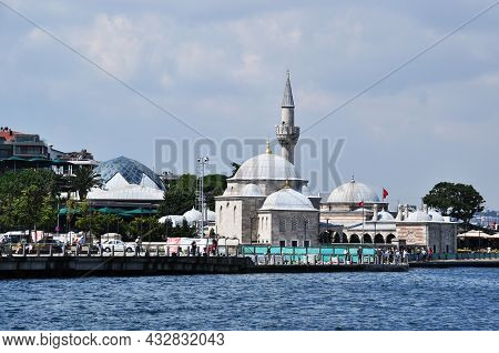 Panoramic View Of Istanbul. Bosphorus Strait, View Of The Mosque And The Sea Pier. July 09, 2021, Is
