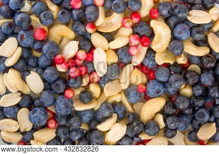 Full Frame Closeup Forest Fruit Fresh Berries Colorful Assorted Large Mix In Studio On White Backgro