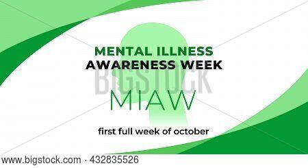 Mental Illness Awareness Week. Vector Web Banner, Background, Poster, Card For Social Media, Network