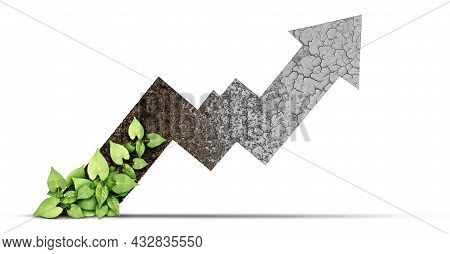 Rising Climate Change And Environmental Changes Cycle As Rich Moist Organic Earth With A Growing You