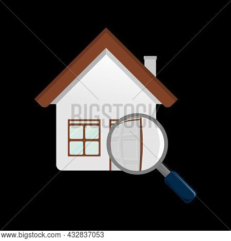 Search Home Vector Design Illustration. Search Home Modern Symbol For Graphic And Web Design. Search