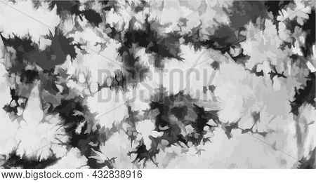 Tie Dye Background Geometric Pattern Texture Vector Illustration Shibori Abstract Batik Brush Seamle