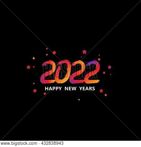 2022. 2020 Text. 2022 Happy New Years. 2022 Design Greetings, Invitations And Banner Or Background.