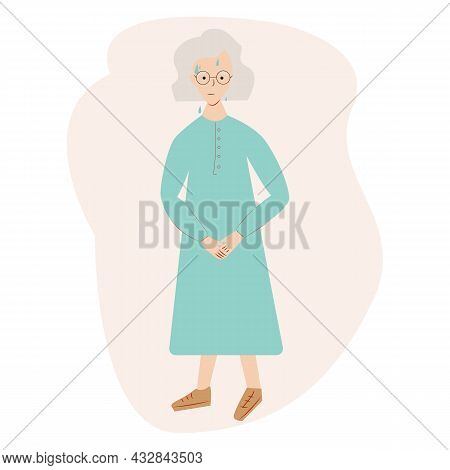 Urinary Incontinence Problem. Elderly Women Wants To Pee. The Old Women Feels Pain In His Groin. Exp