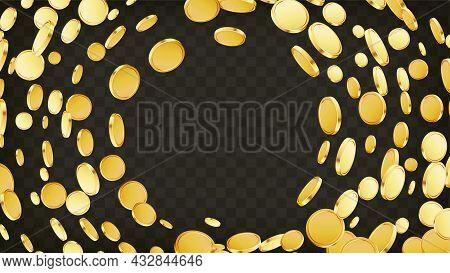 Casino Jackpot Or Win Concept. Golden Coins Explosion.