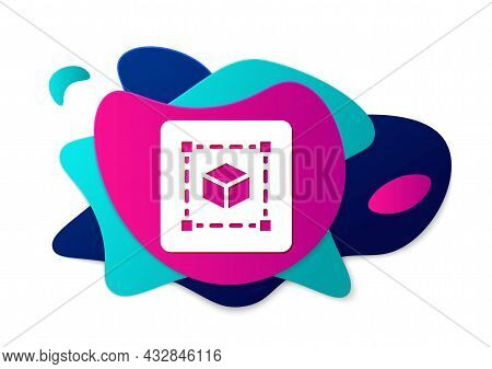 Color Geometric Figure Cube Icon Isolated On White Background. Abstract Shape. Geometric Ornament. A