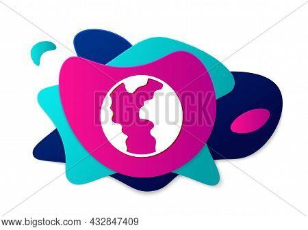 Color Global Economic Crisis Icon Isolated On White Background. World Finance Crisis. Abstract Banne