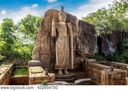 Buddha Statue In Avukana Temple (aukana Temple) In Sri Lanka
