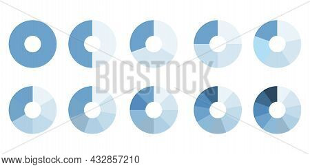 Blue Circle. Infographic Circle. Process Chart. Cycle Diagram. Segment Infographic. Vector Illustrat