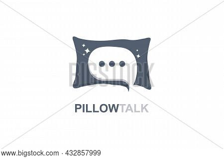 Pillow Icon Isolated On White Background From Pillow Talk. Pillow Icon With Negative Space Chat Icon