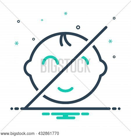 Mix Icon For Away Far Aloof Far-out Gone Distant Elsewhere Prohibited No-baby Child Not Allowed