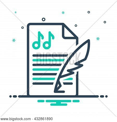 Mix Icon For Composition Melody Concept Music Creation Conformation Lyrics Formation Setup History P