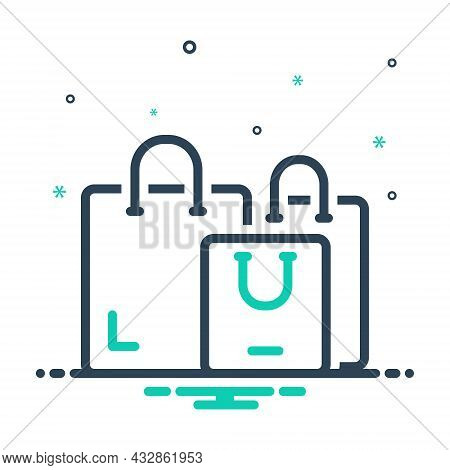 Mix Icon For Shopping Handle Buy Consumer Carry-bag Purchasing Bag Carry