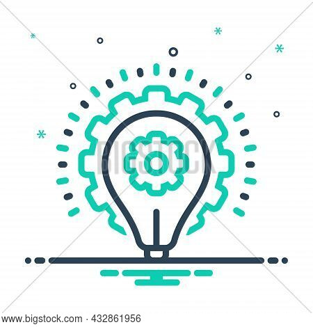 Mix Icon For Strategy Planning Strategics Master-plan Scheme Idea Infographic Gear