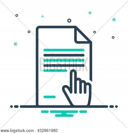 Mix Icon For Context Text Subject Theme Topic Information Document Page