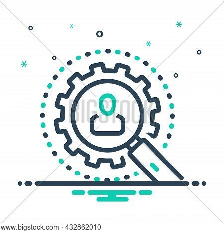 Mix Icon For Investigation Detective Magnification Research Inquiry Inspection Survey Examination Ch