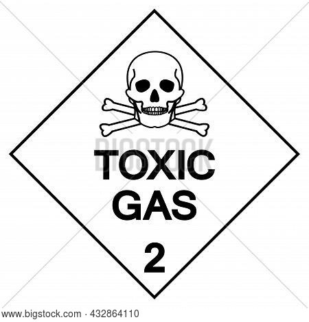 Toxic Gas Label Symbol Sign ,vector Illustration, Isolate On White Background Label .eps10
