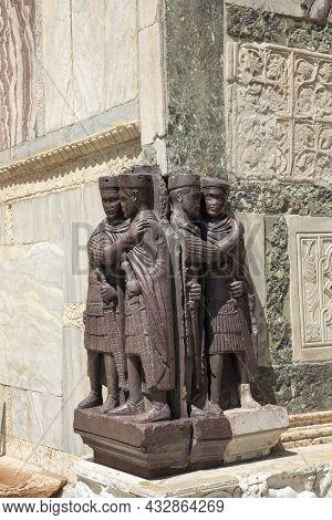 Portrait Of The Four Tetrarchs Diocletia, Maximianus, Galerius And Constantius, A Porphyry Sculpture