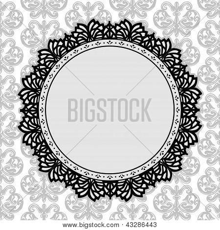 Vintage Spitzen-Deckchen-frame