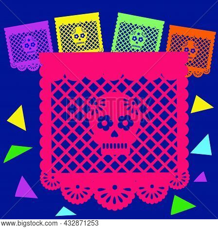Illustration Of Traditional Handy Carft Papel Picado