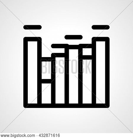 Equalizer Vector Line Icon. Equalizer Linear Outline Icon.